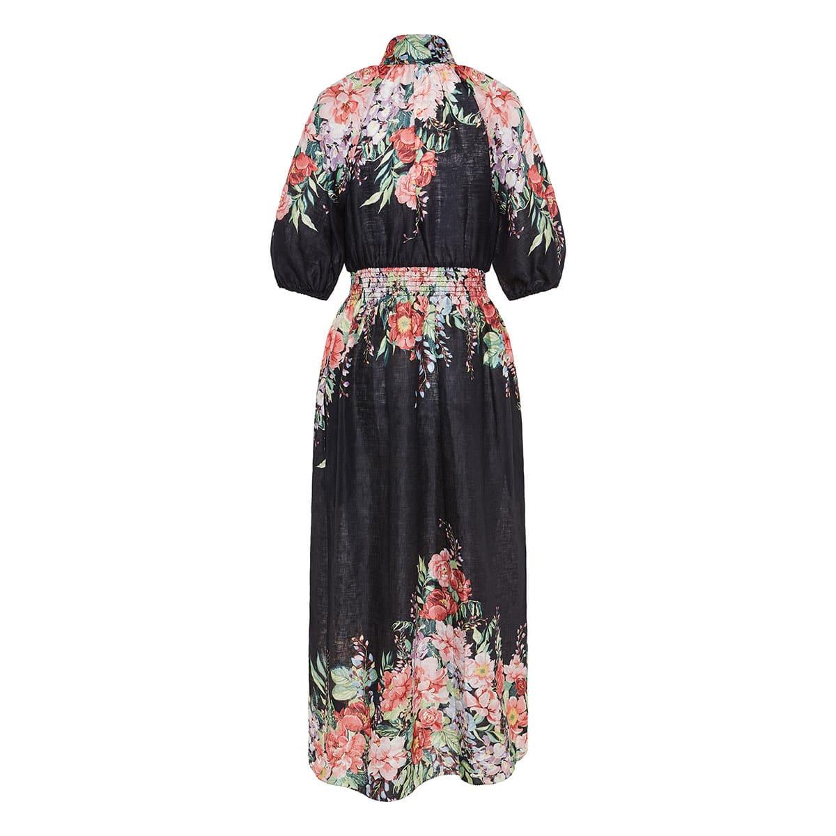 Bellitude floral linen midi dress