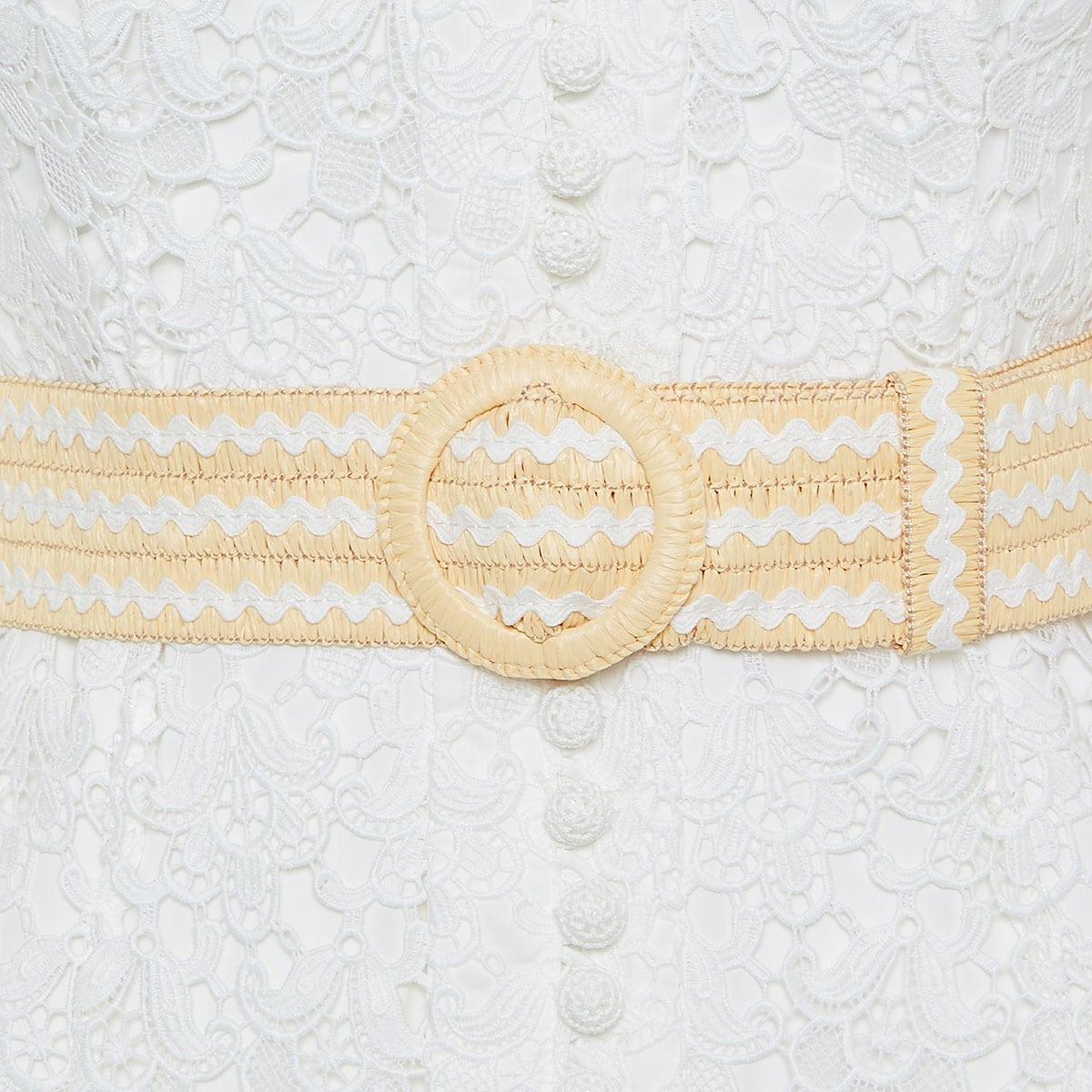 Empire lace mini dress