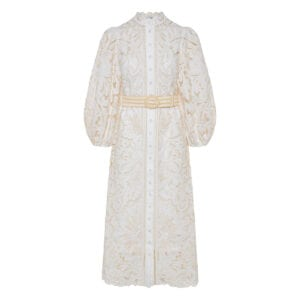 Empire Broderie midi dress