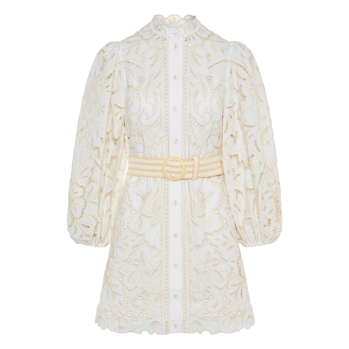 Empire Broderie mini dress