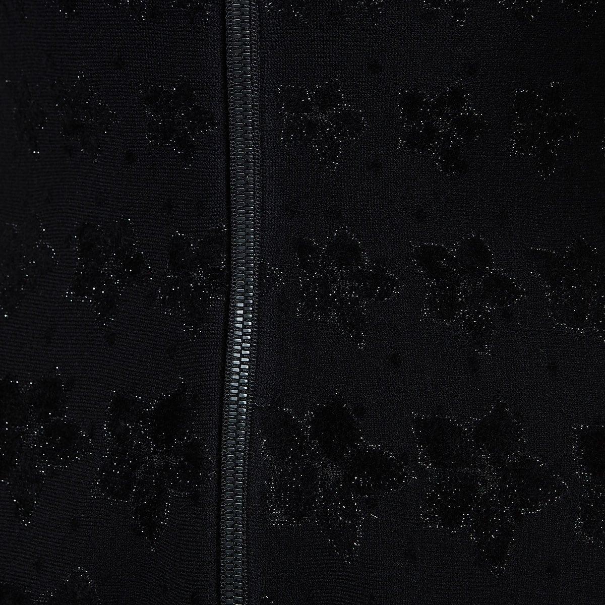 Floral jacquard-knit dress