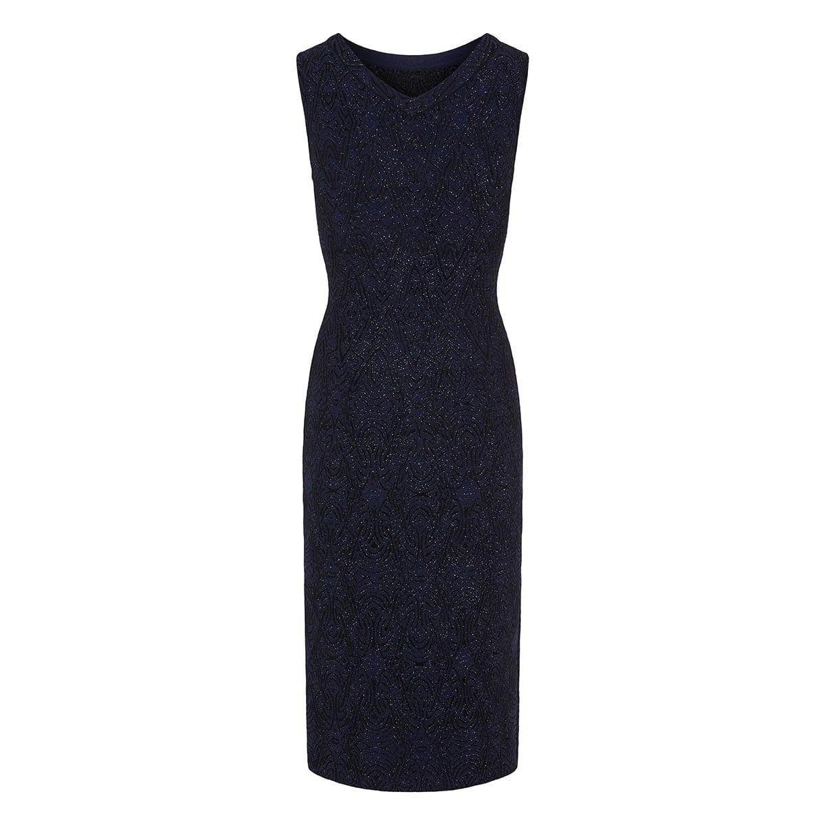 Patterned jacquard lurex midi dress