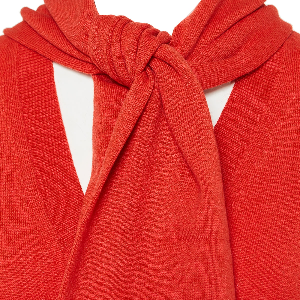 Cashmere sweater with ties