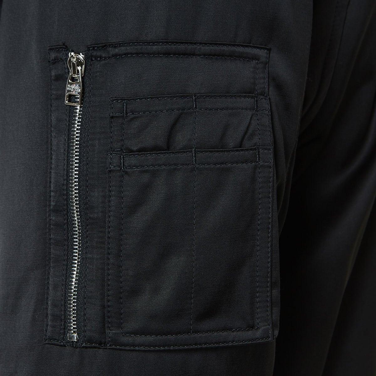 Harness detail bomber jacket