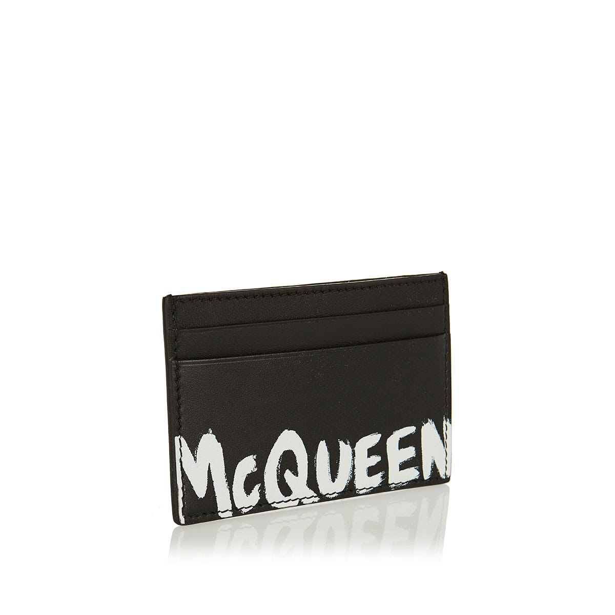 Logo leather card case