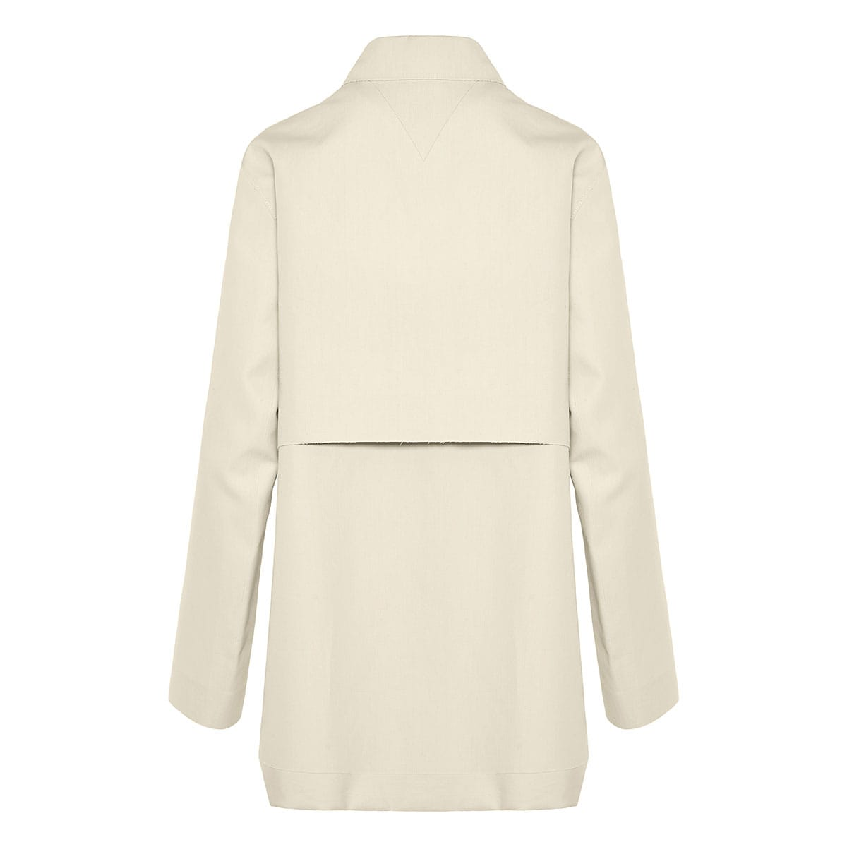 Button-embellished cotton jacket