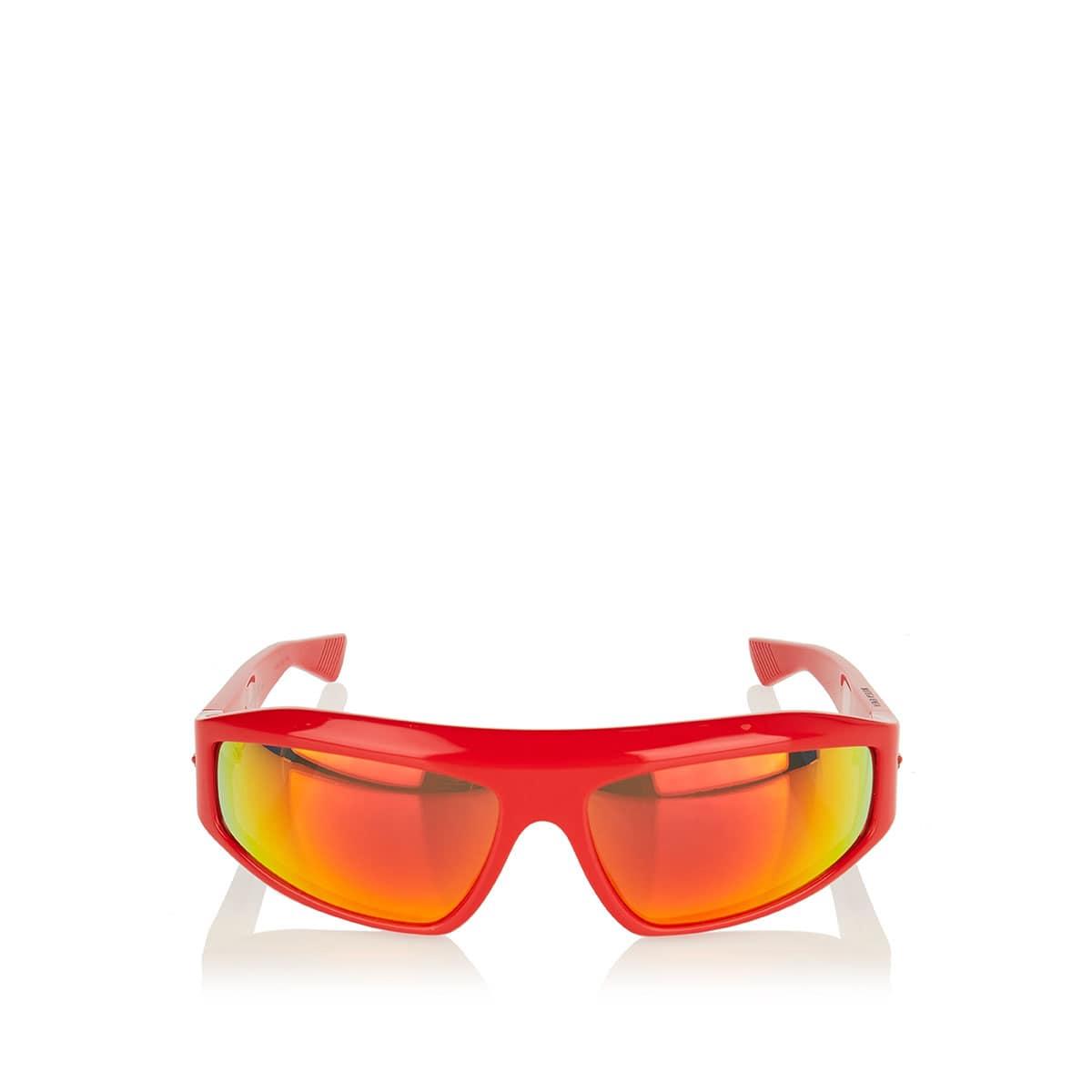 Wraparound mirrored sunglasses