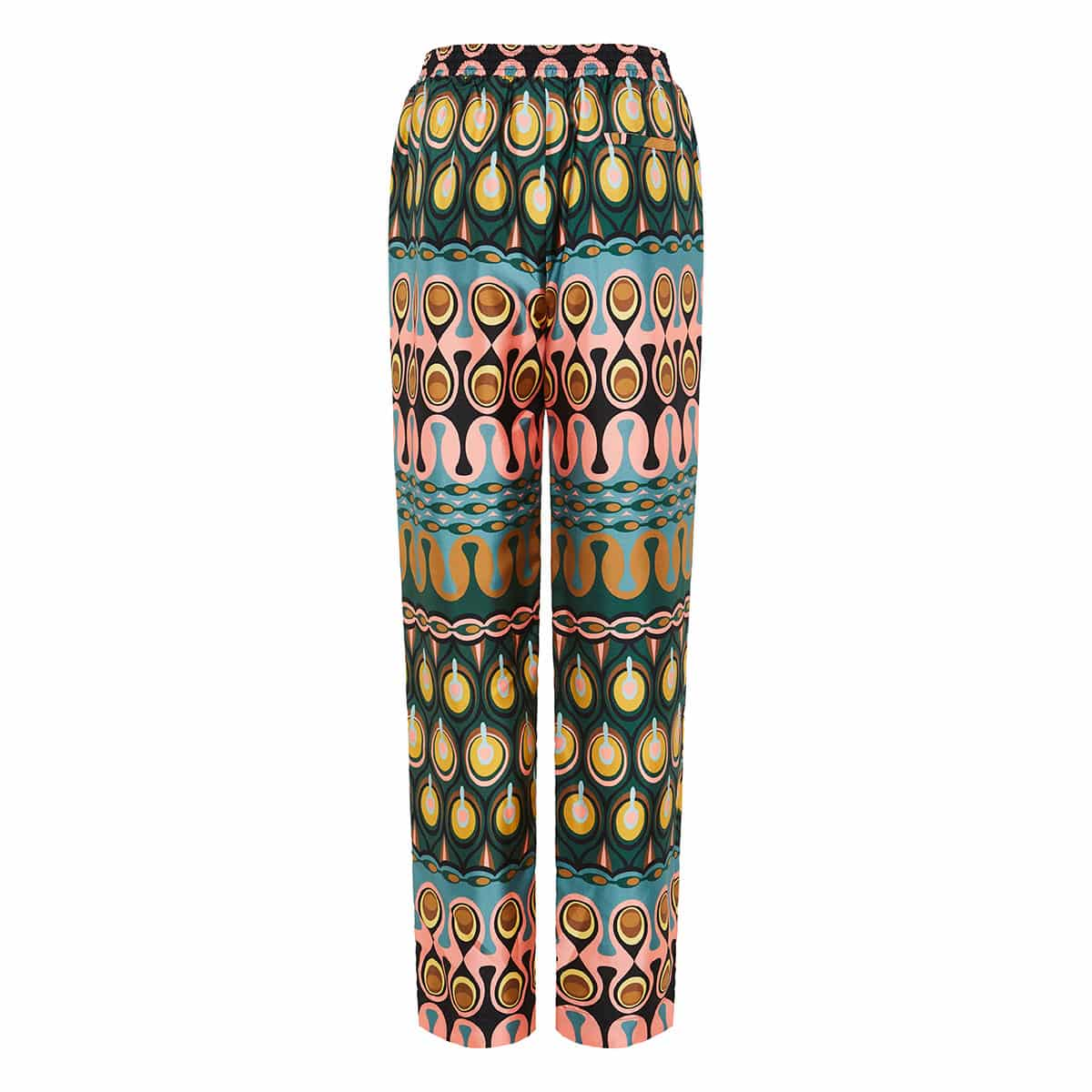 Printed twill trousers