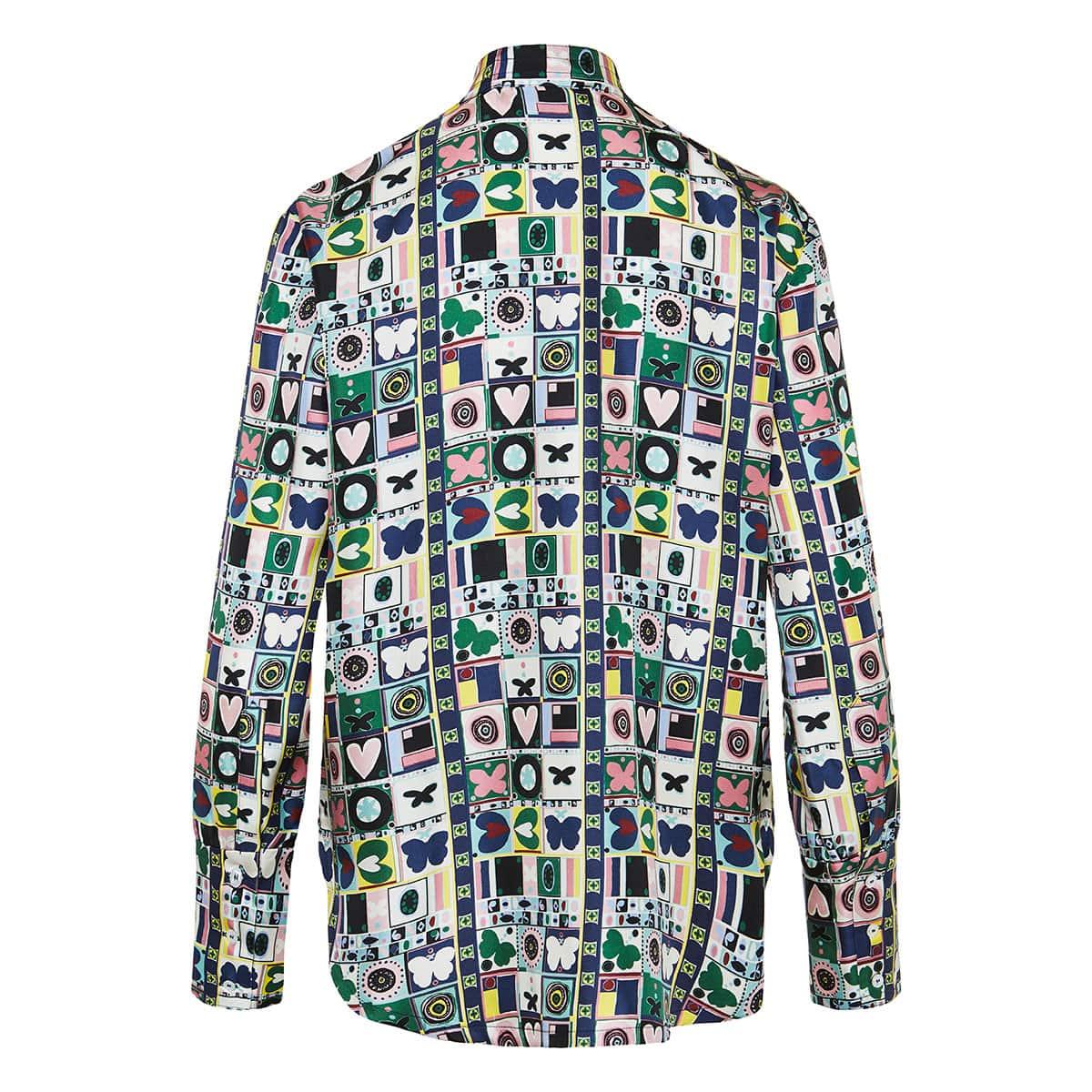 Portofino printed twill shirt