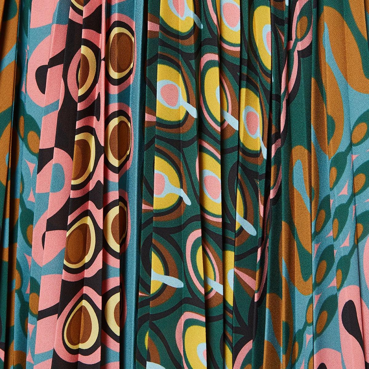 Soleil printed pleated skirt