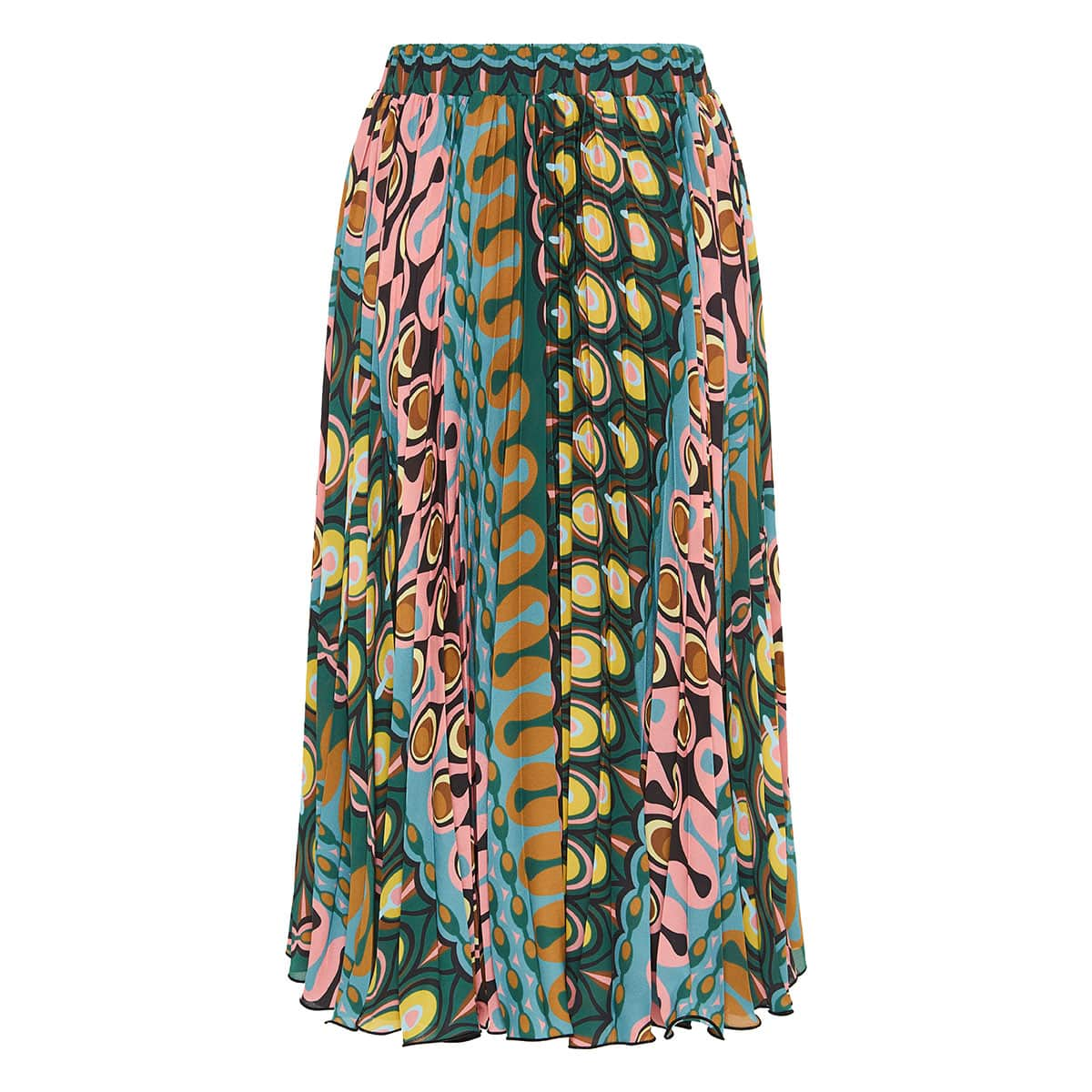 Soleil printed pleated skirt