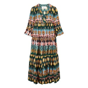 Jennifer Jane printed tiered dress