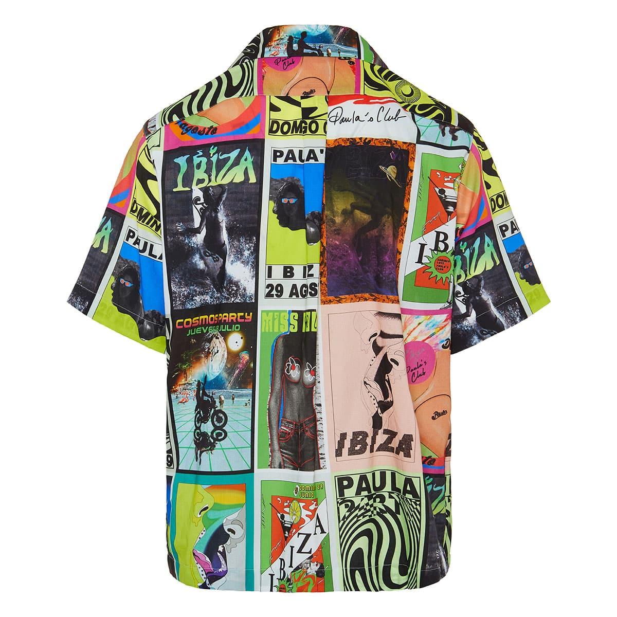 Short-sleeved printed shirt