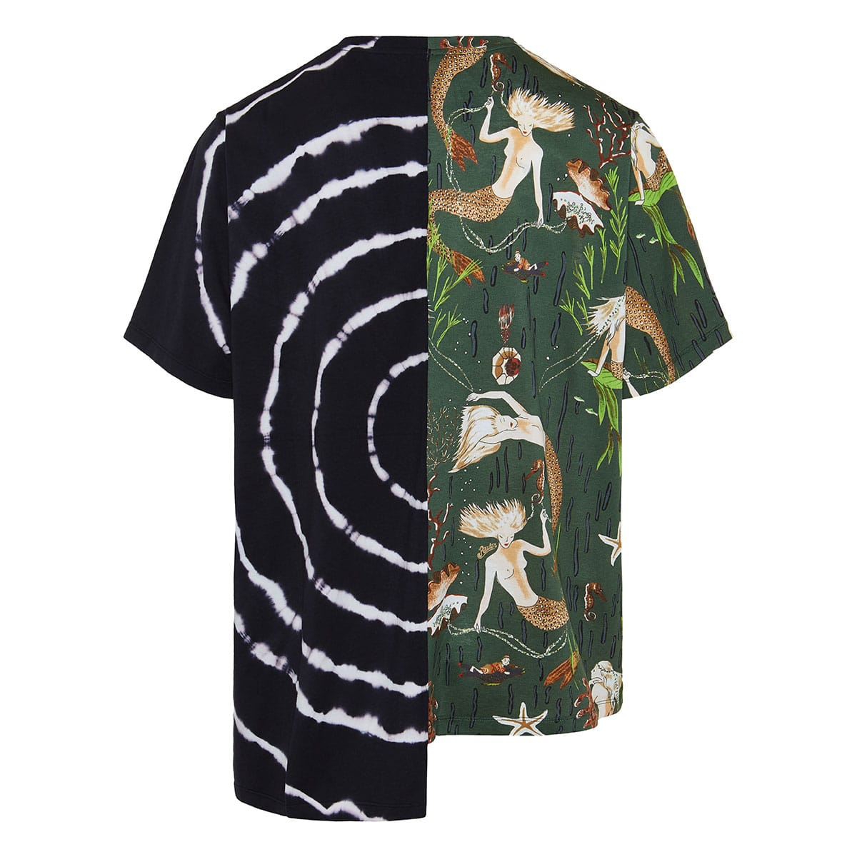 Oversized asymmetric printed t-shirt