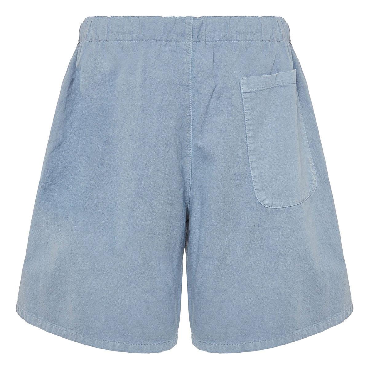 Two-tone cotton shorts