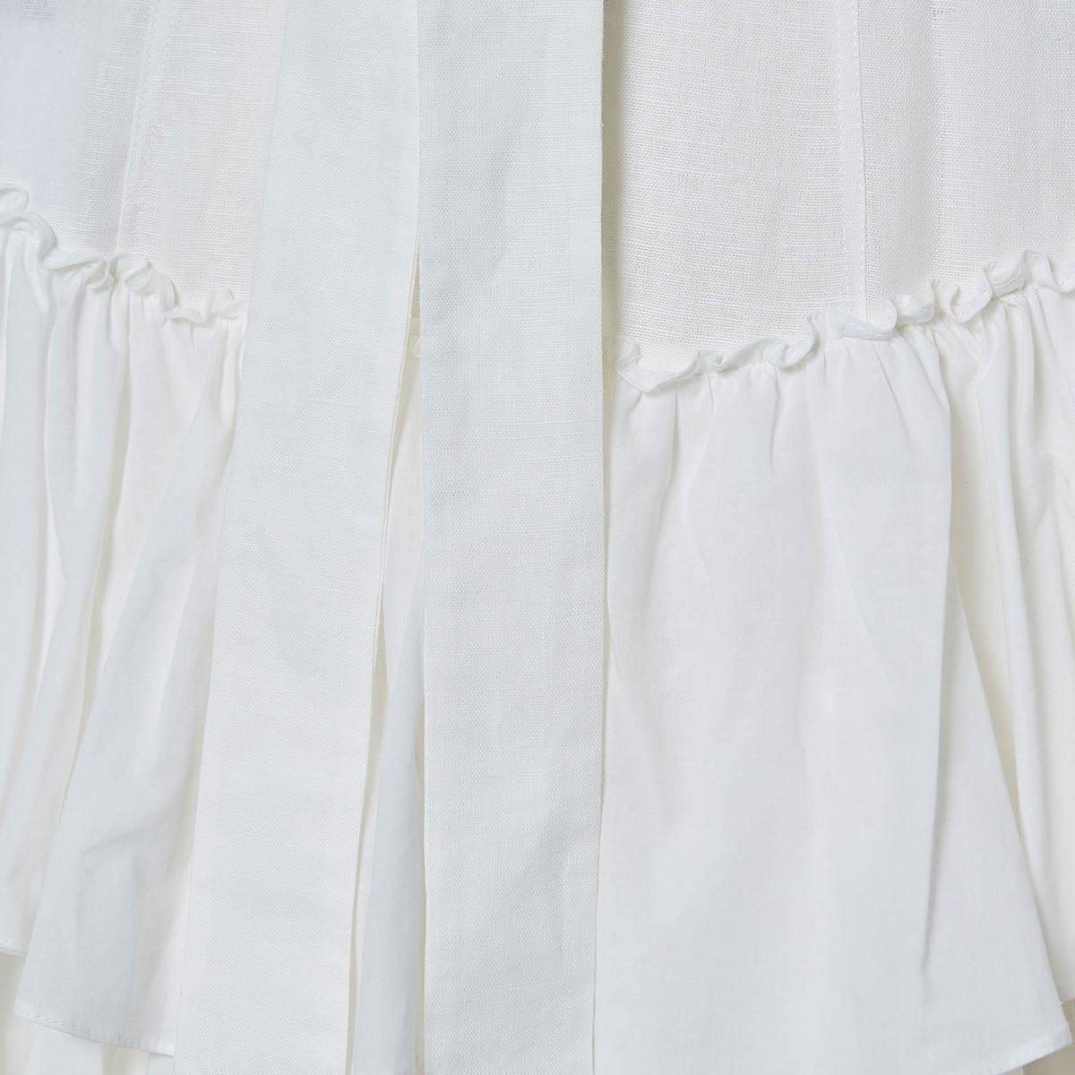 Long ruffled linen dress