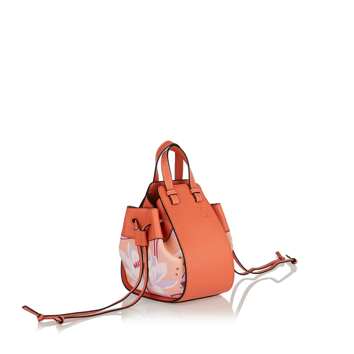 Mini Hammock leather and canvas bag