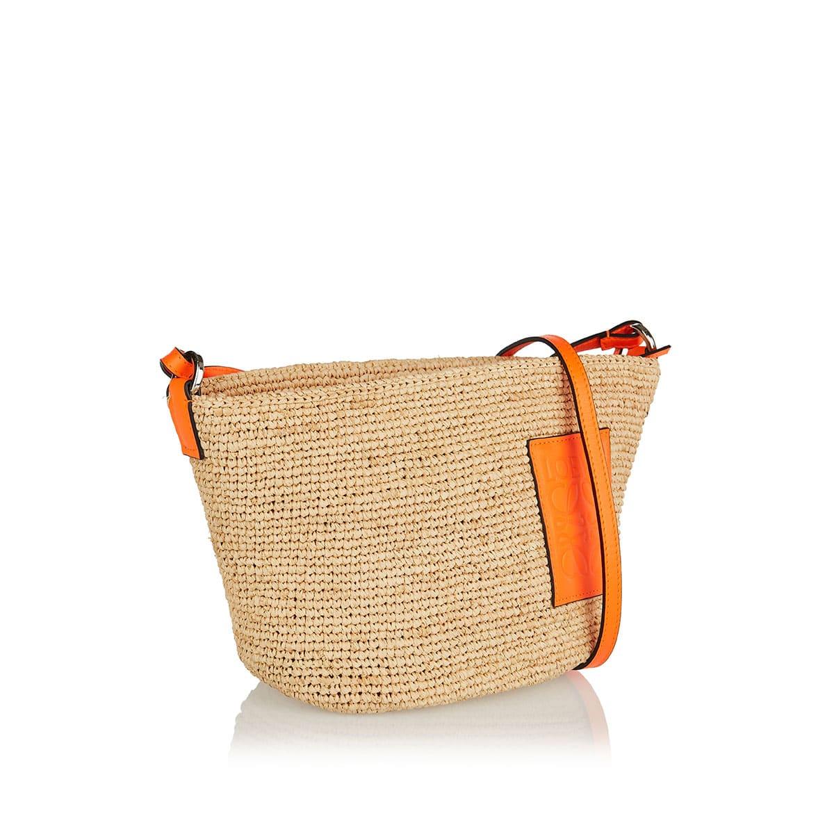 Pochette raffia basket bag
