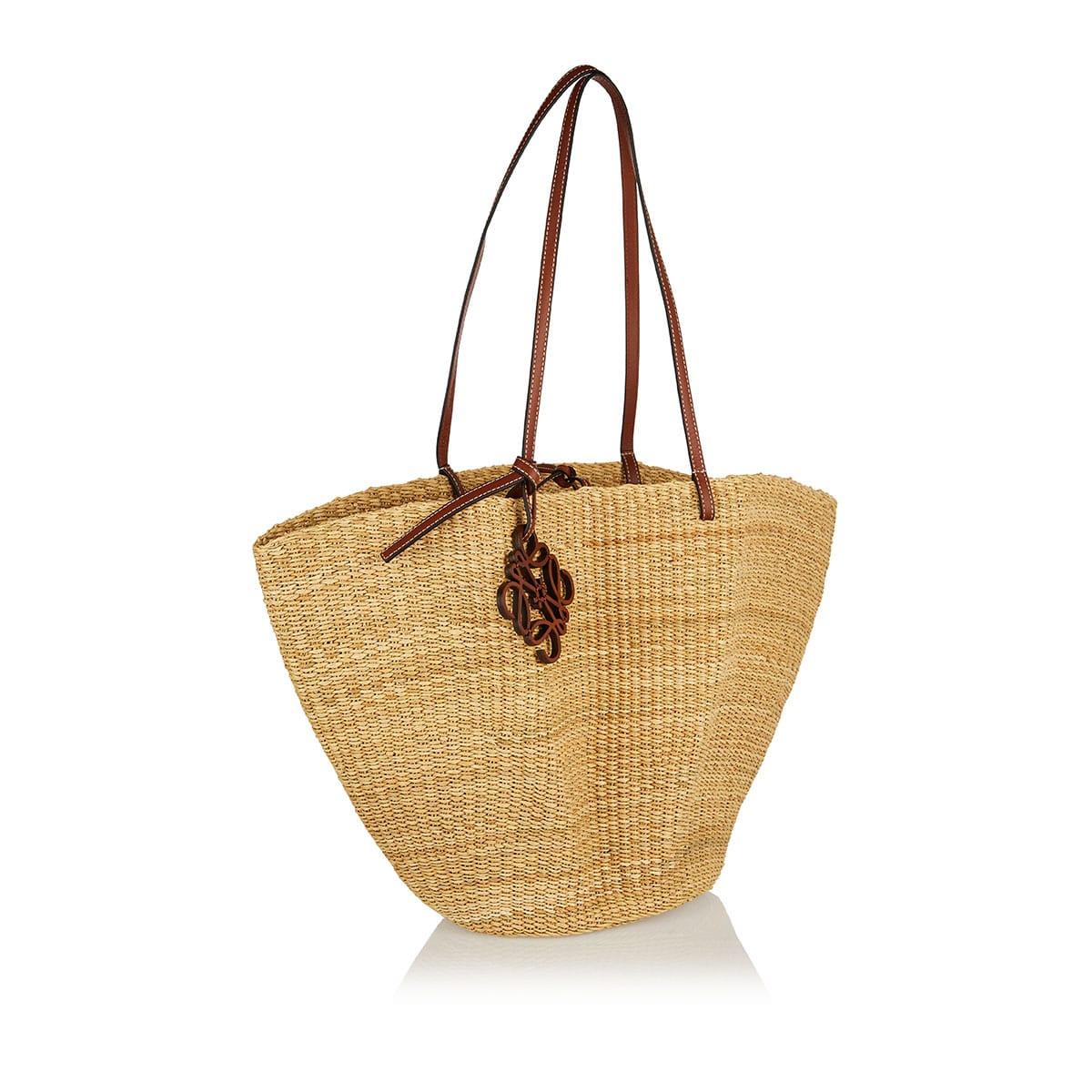 Large Shell woven basket bag