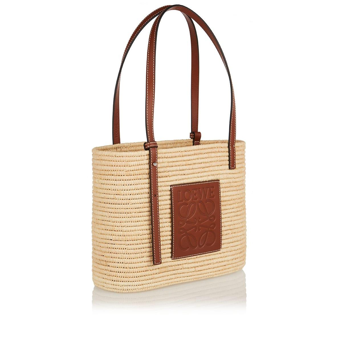 Small raffia basket bag