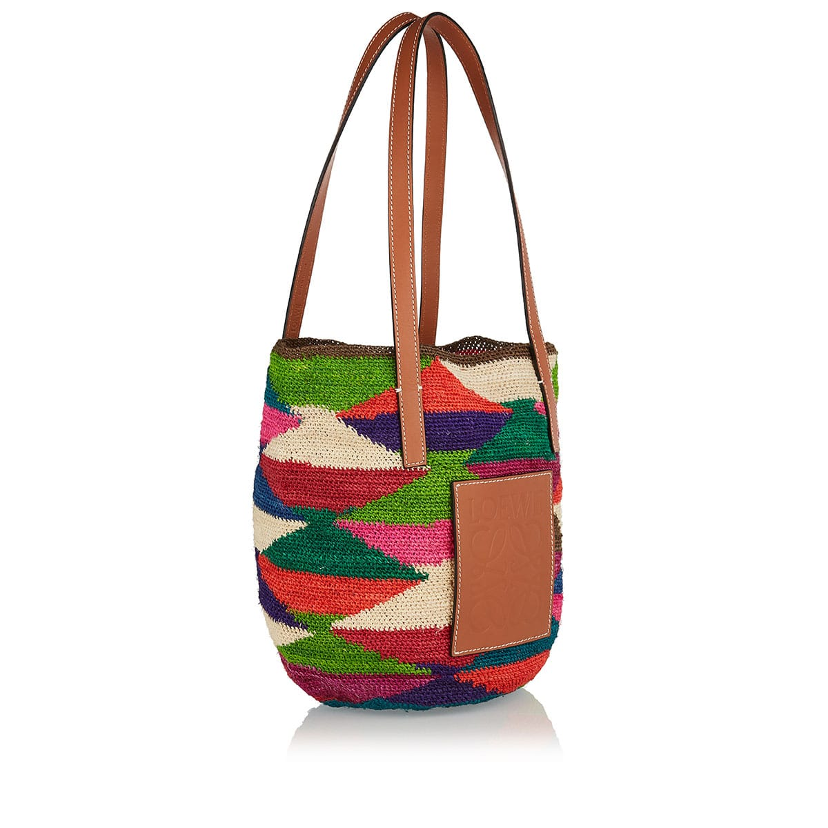 Shigra sisal and leather tote