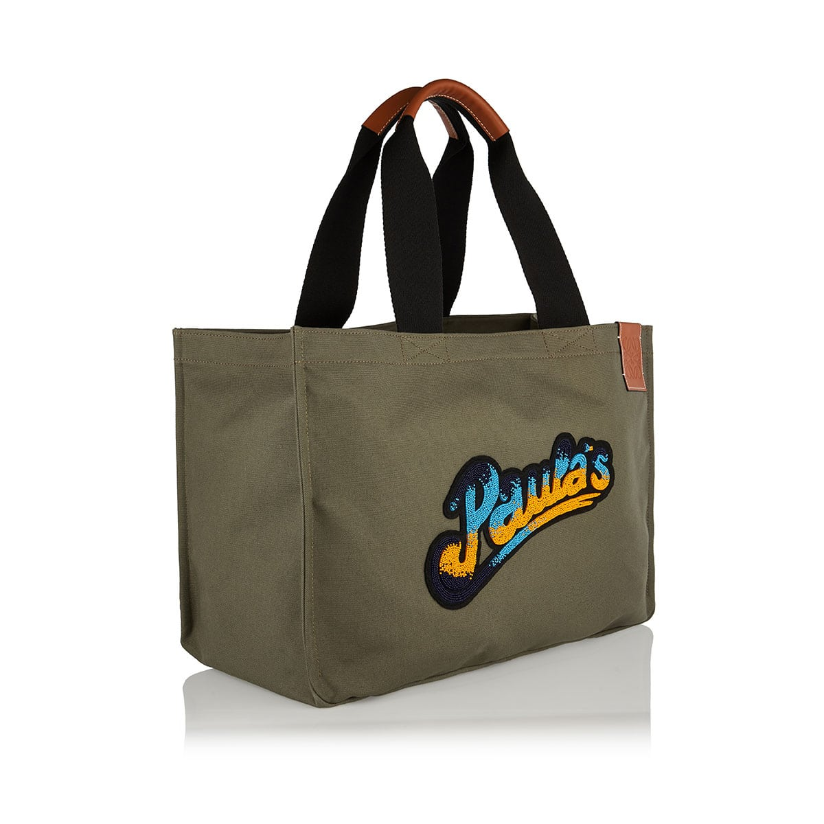 Large logo canvas tote