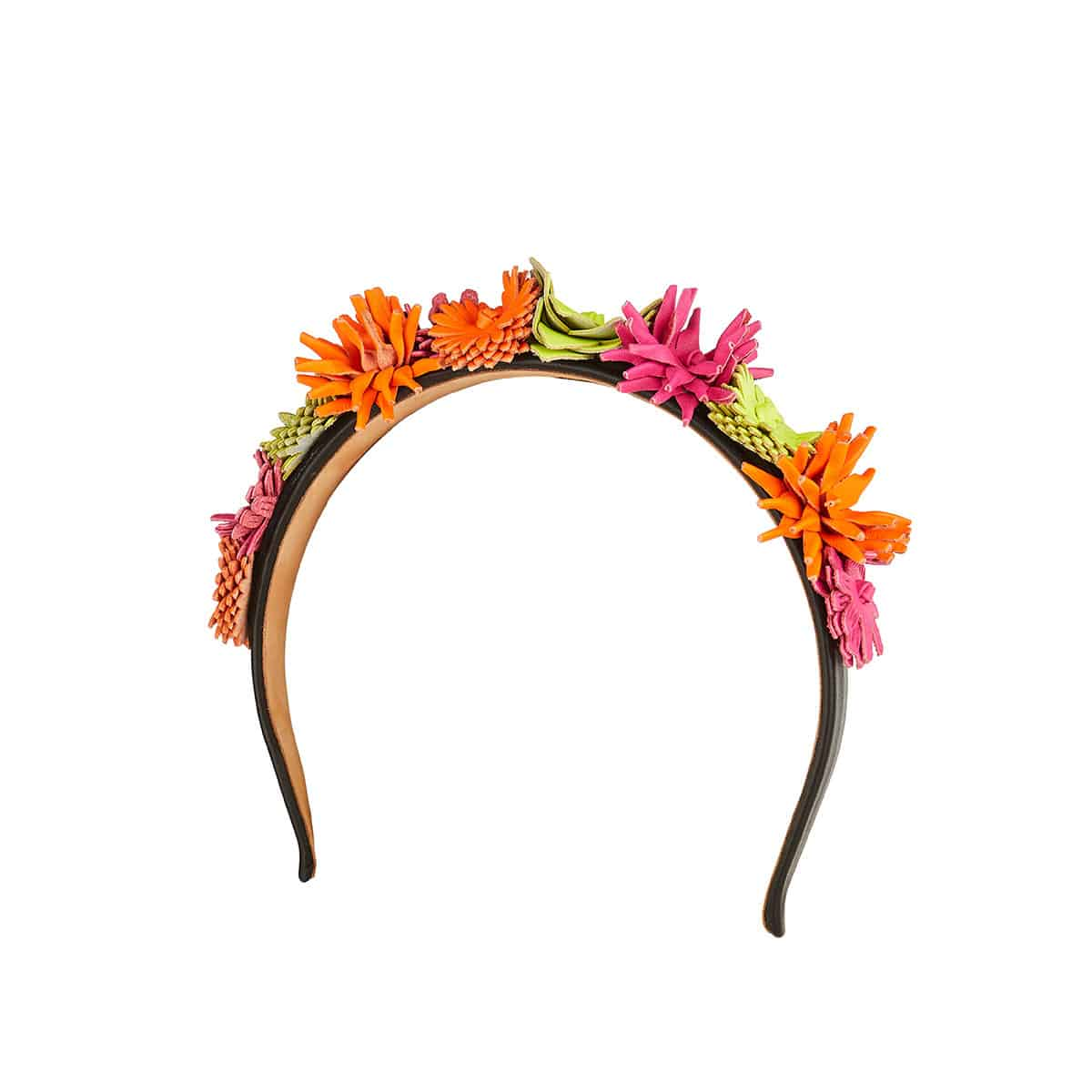 Flower-embellished headband
