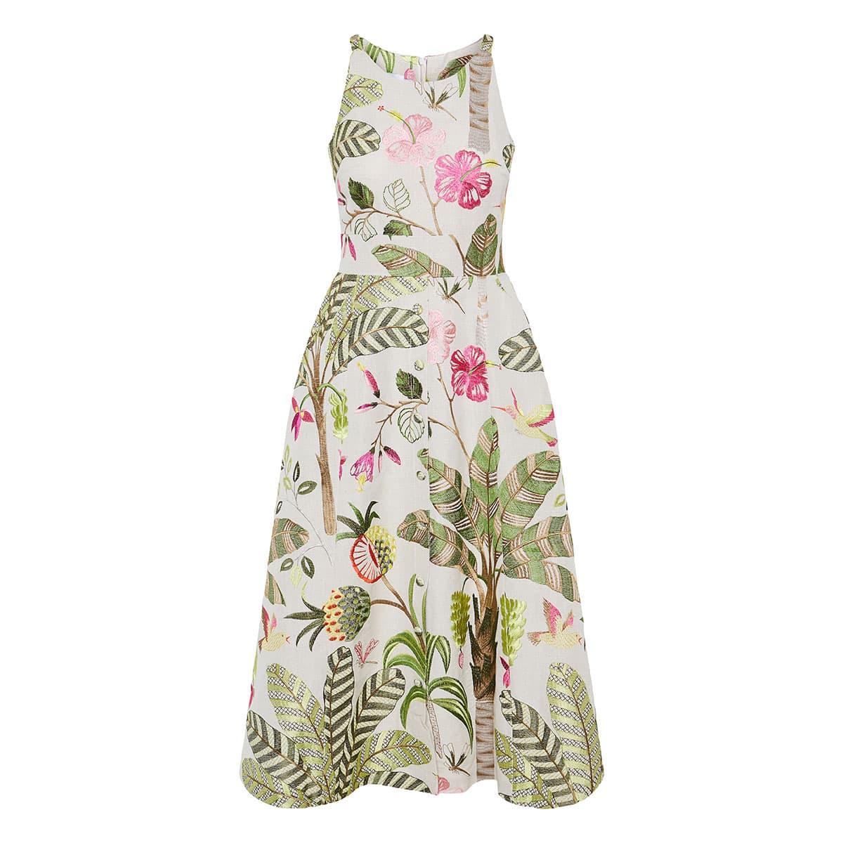 Palma Real embroidered midi dress