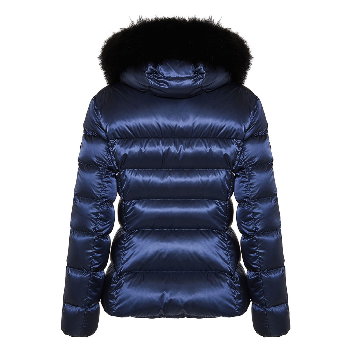 Fur-trimmed quilted puffer jacket