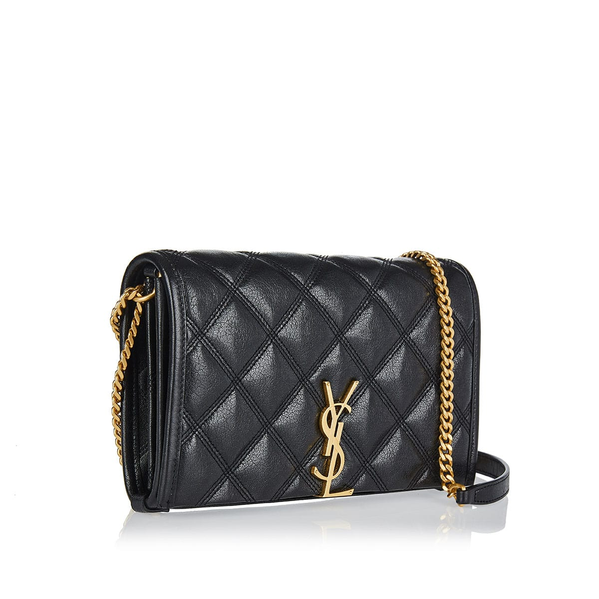 Becky quilted wallet on chain