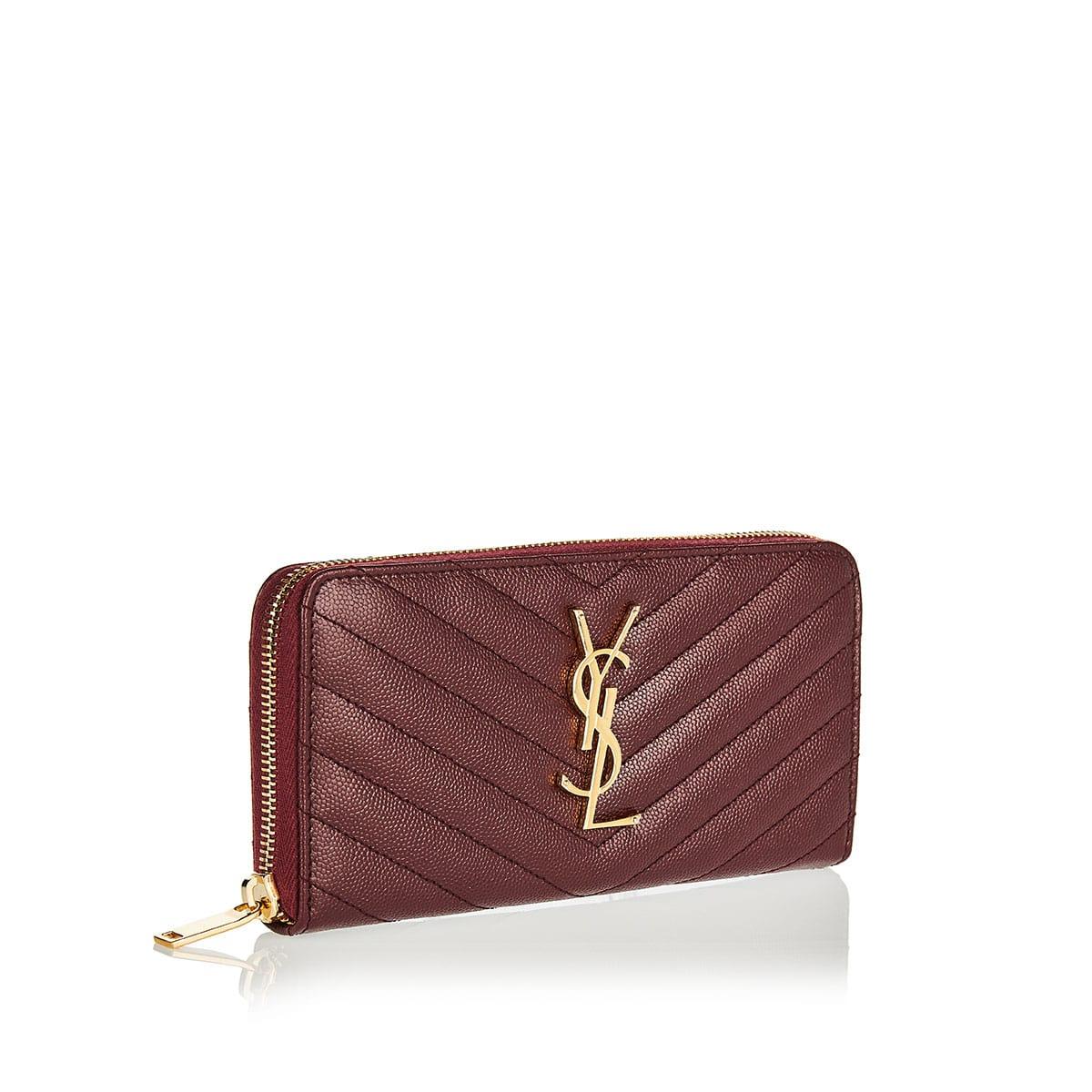 Monogram zip-around wallet