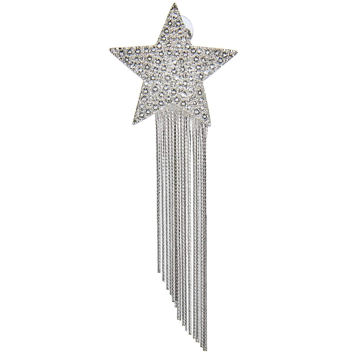 Star chain drop earrings