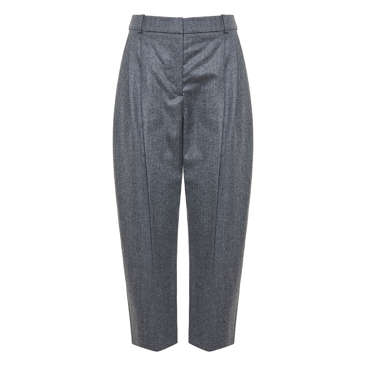 Flannel tapered trousers