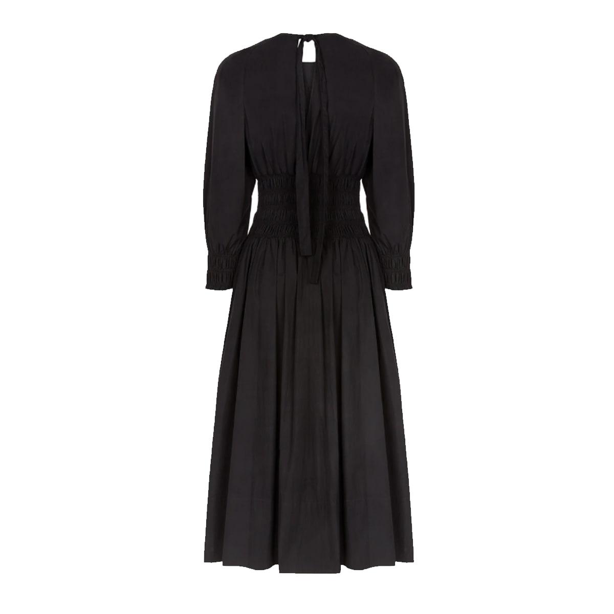 Arianna shirred poplin midi dress