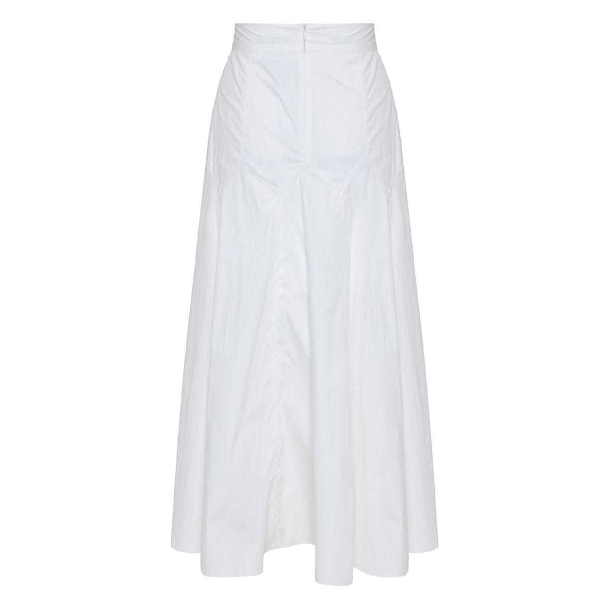 Aria poplin midi skirt