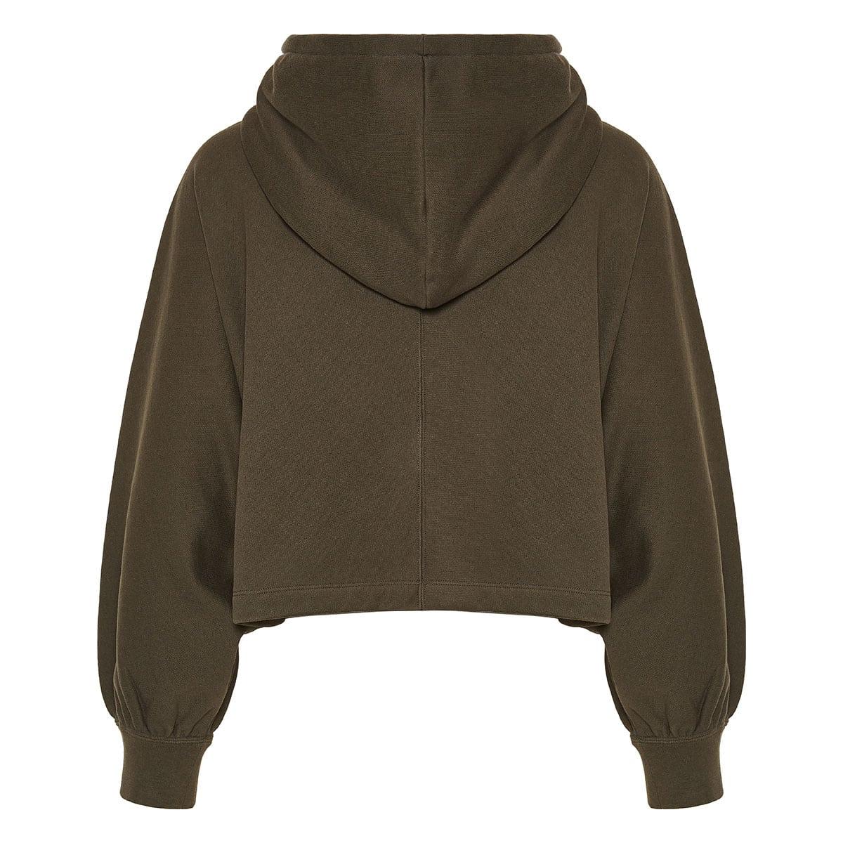 Vlogo cropped zipper hoodie