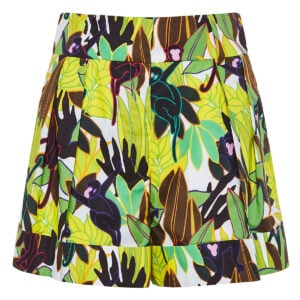 Panther in the Jungle flared shorts