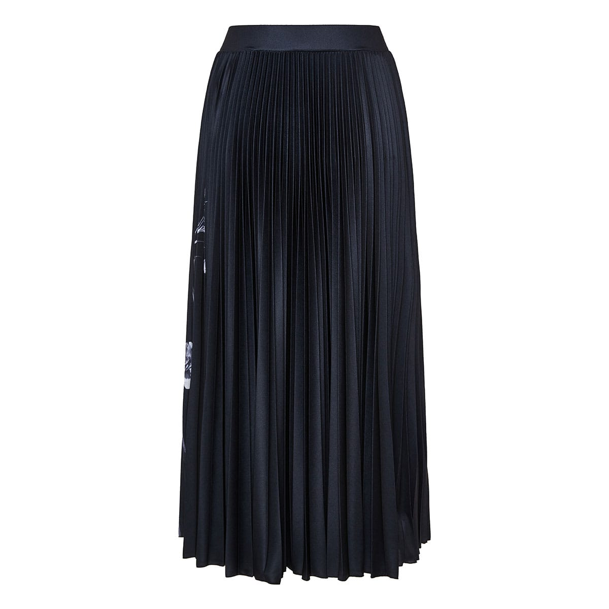 Flowersity pleated midi skirt