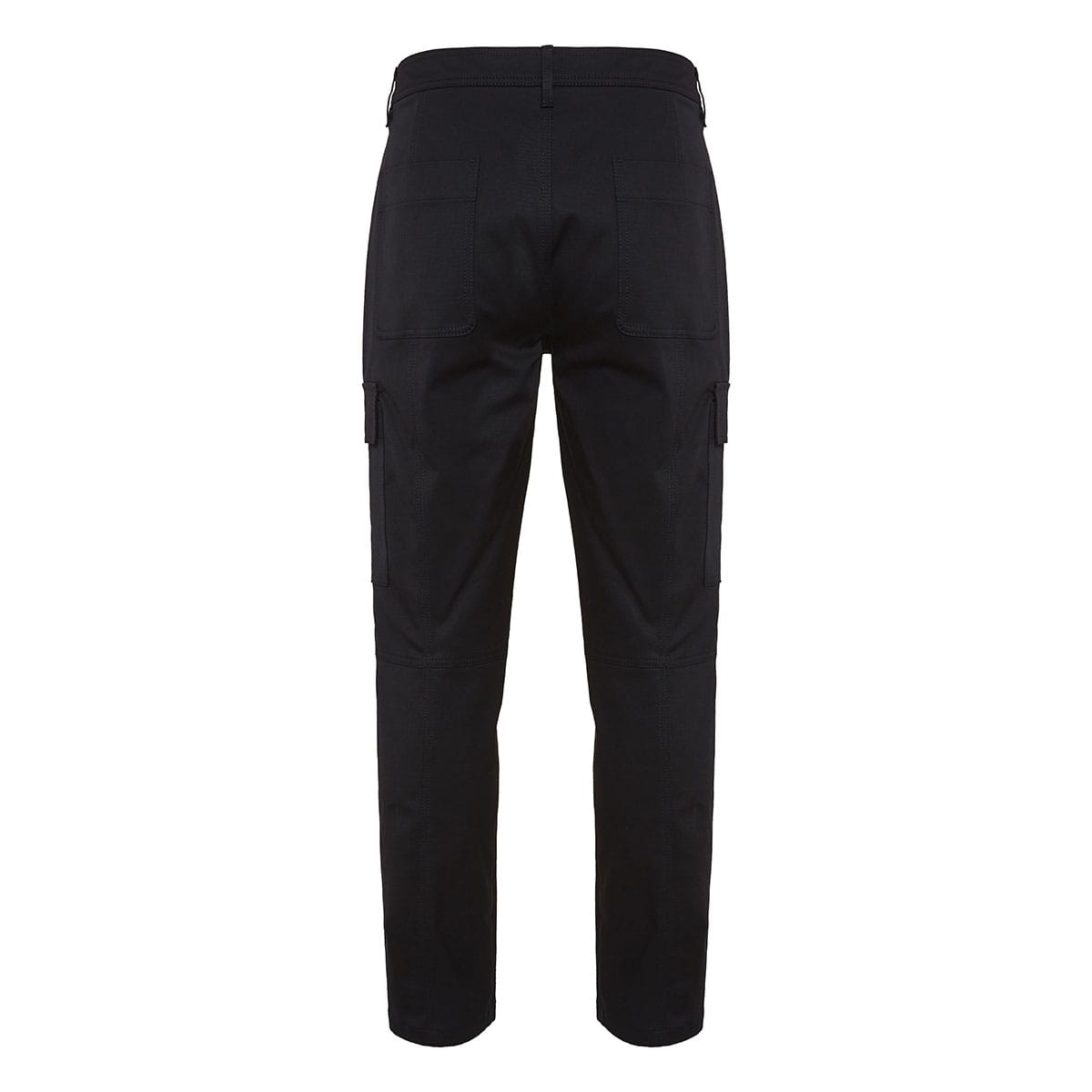Technical cotton cropped cargo trousers