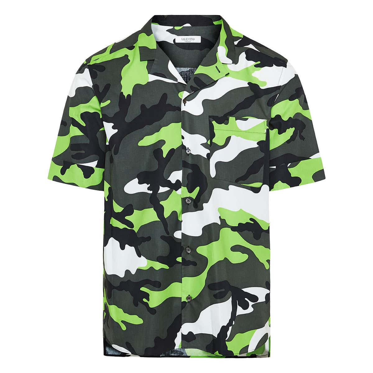 Camouflage short-sleeved shirt