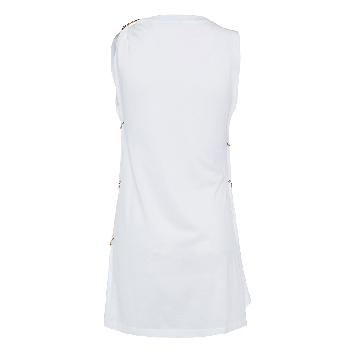 Pin-embellished cutout logo top
