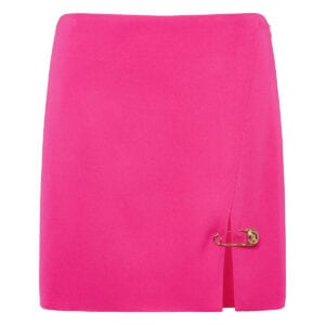 Pin-embellished mini skirt