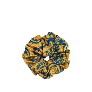 Baroque print hair scrunchie