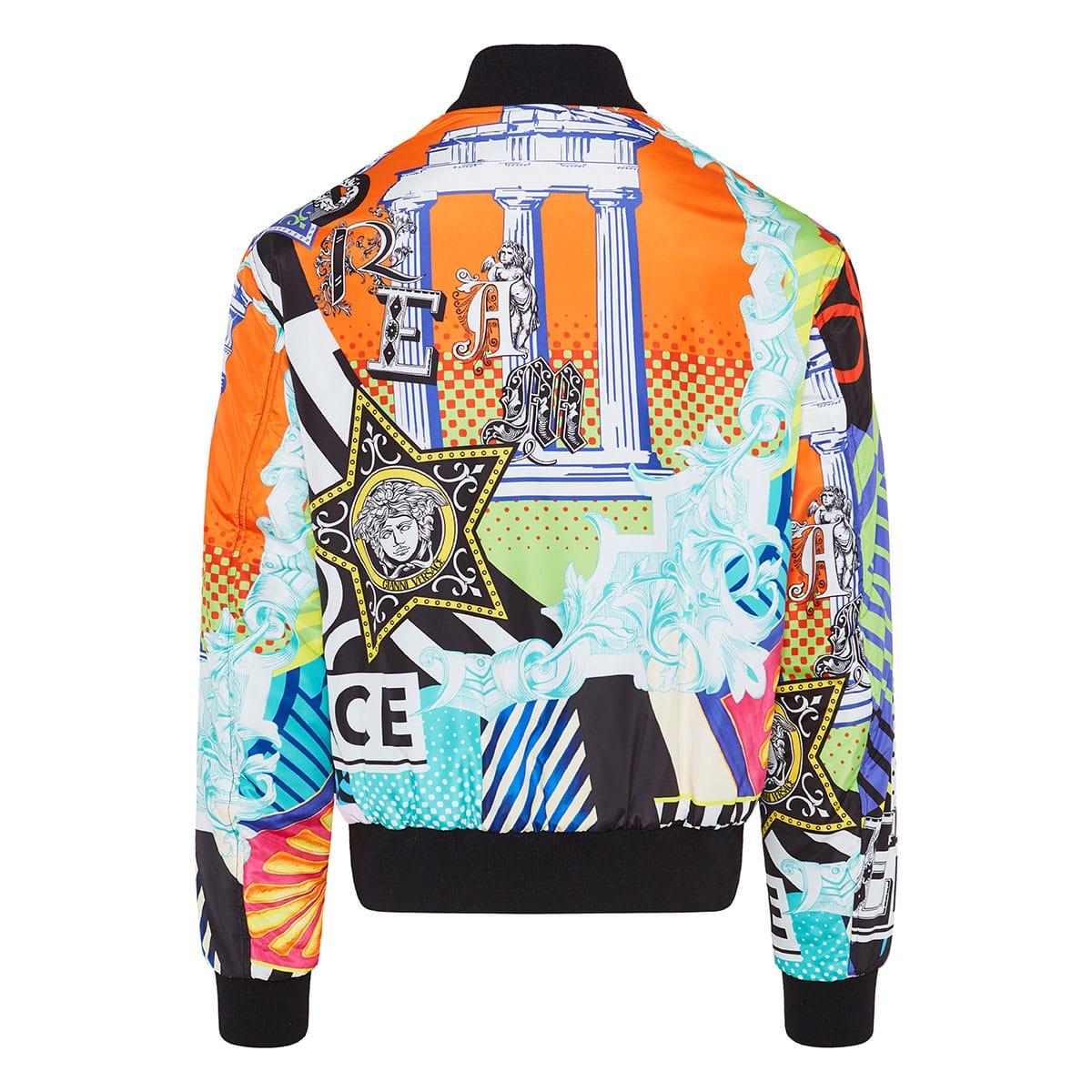 Reversible printed bomber jacket