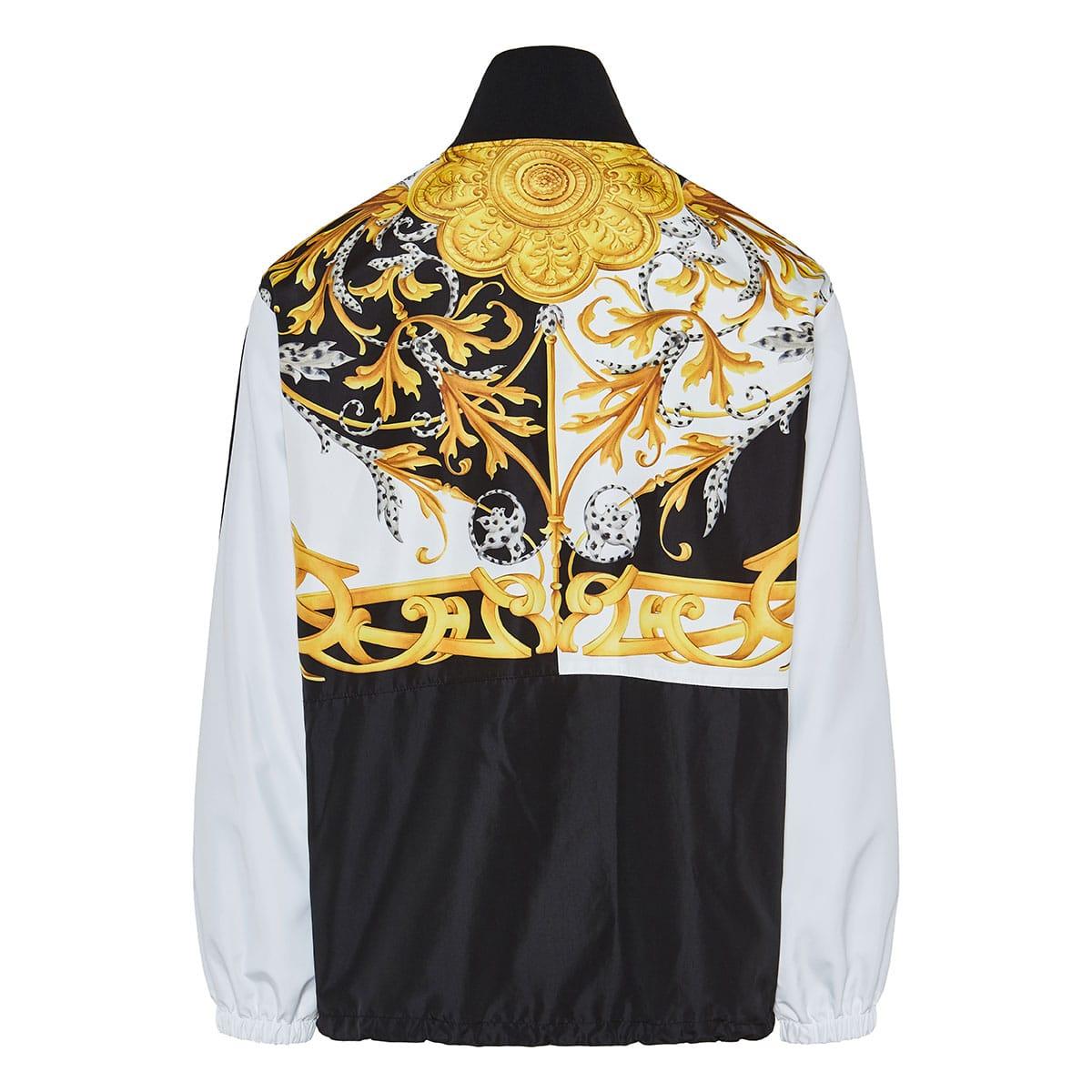 Baroque print windbreaker jacket