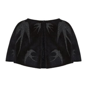 Lurex and wool cropped cape