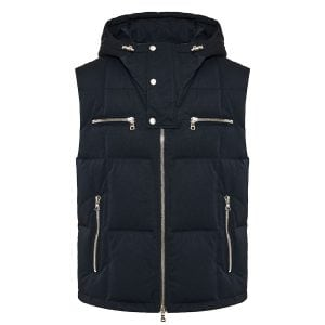 Logo quilted puffer vest
