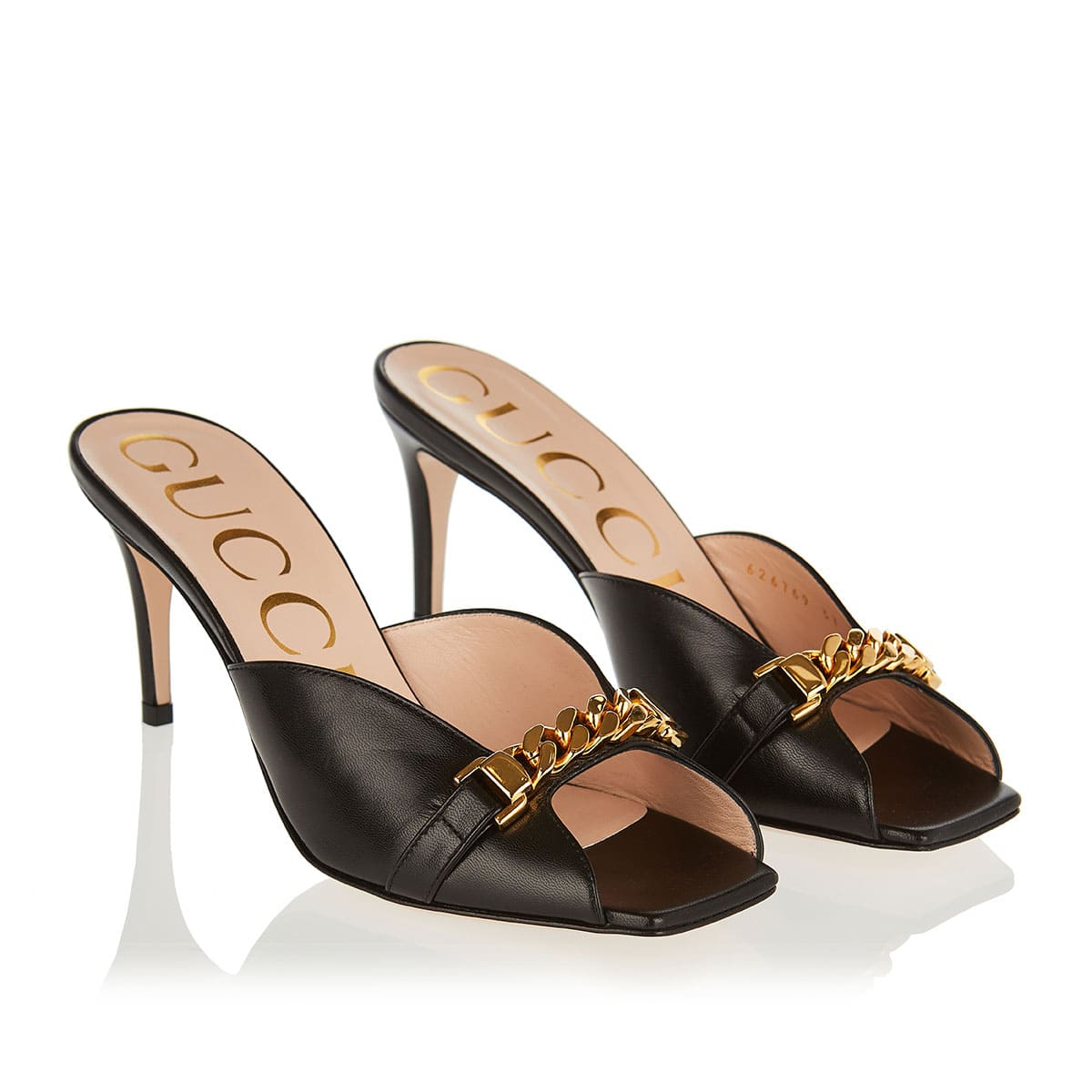 Sylvie chain-embellished mules