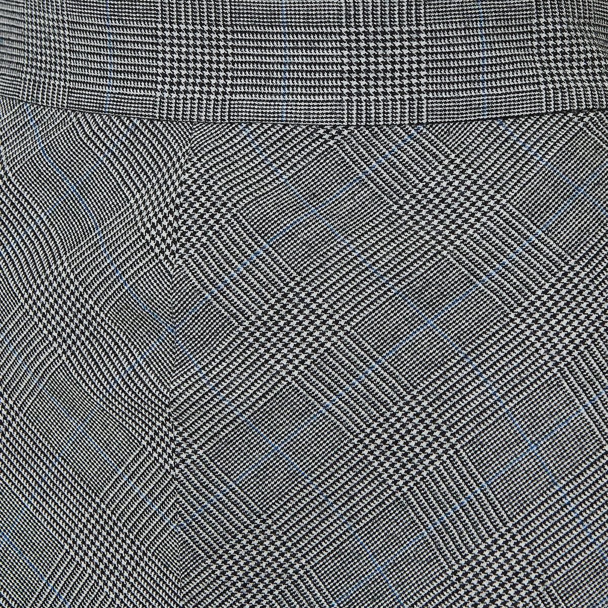 Checked asymmetric ruffled skirt