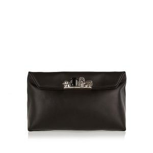Four Ring leather clutch